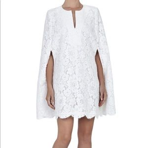 Brynna BCBG embroidered cape dress